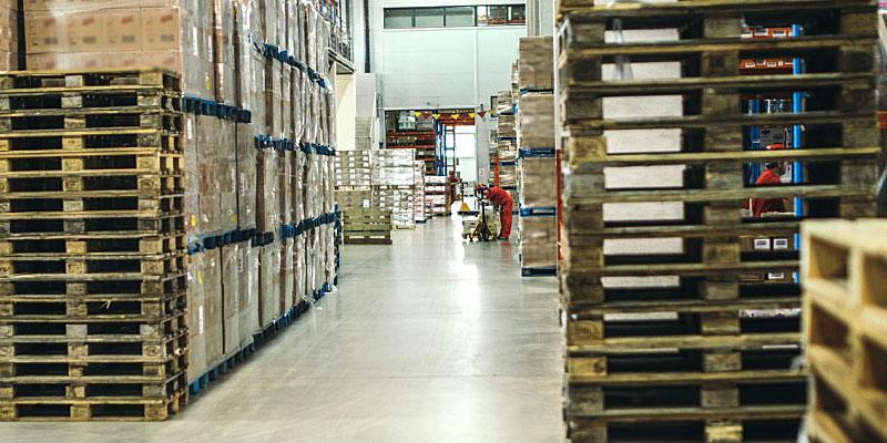 paletização logística empresarial